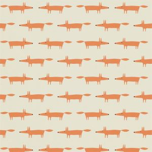 Tapete LITTLE FOX orange-beige
