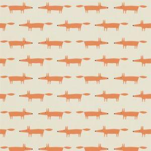 Tapete LITTLE FOX orange-beige