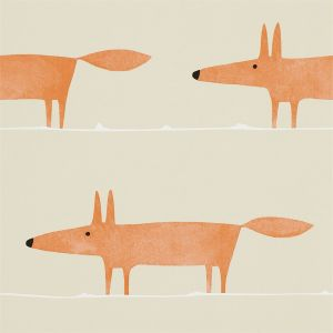 Tapete MR FOX orange-beige