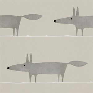Tapete MR FOX grau-beige