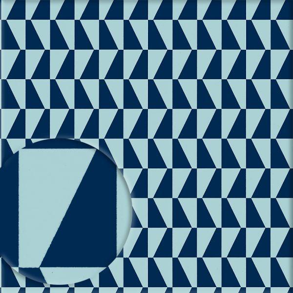 Tapete TRAPEZ blau