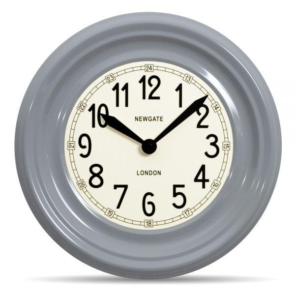 Wanduhr GATSBY clockwork grey