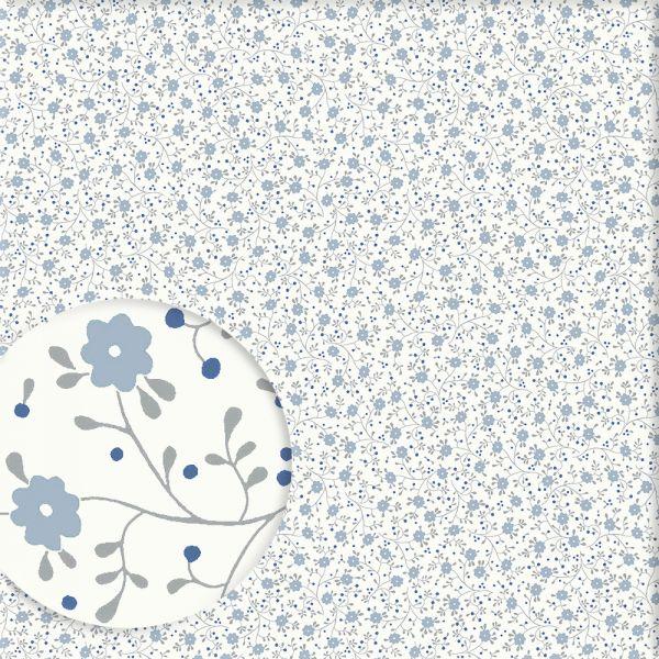 Wand Graublau: Tapete Mit Vögeln EUGEN Graublau Von Sandberg
