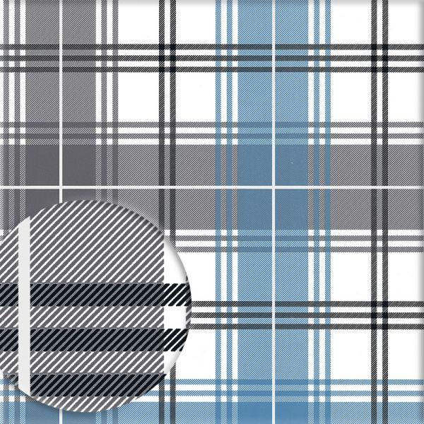 Tapete EDWARD blau-dunkelgrau-schwarz