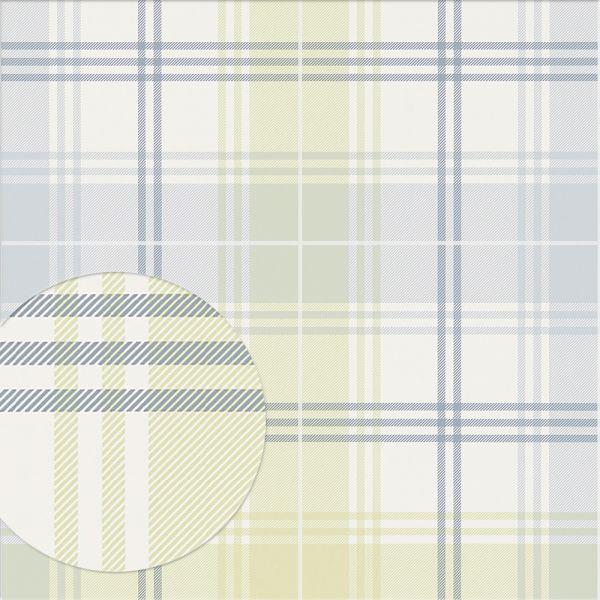 Tapete EDWARD gelbgrün-graublau