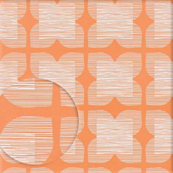 Tapete FLOWER TILE orange