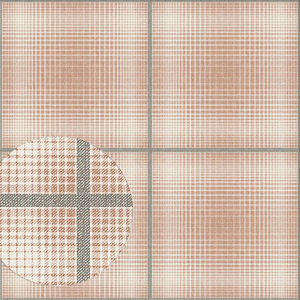 Tapete KRISTOFFER terracotta-dunkelgrau