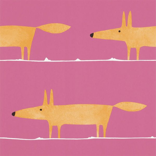 Tapete MR FOX orange-pink
