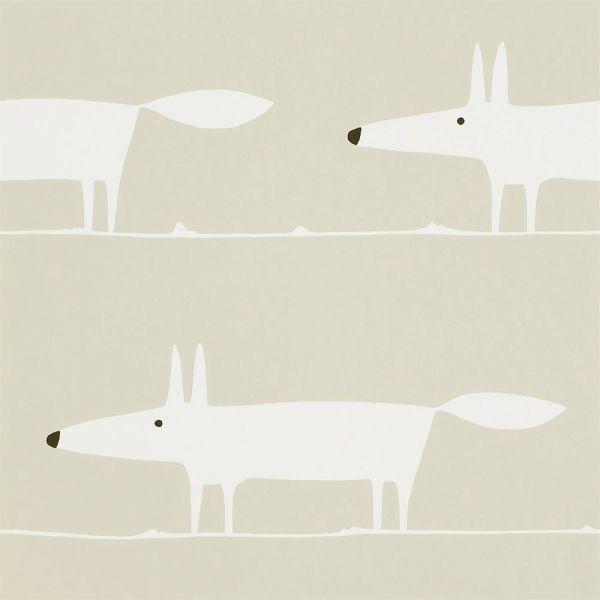 Tapete MR FOX weiss-beige