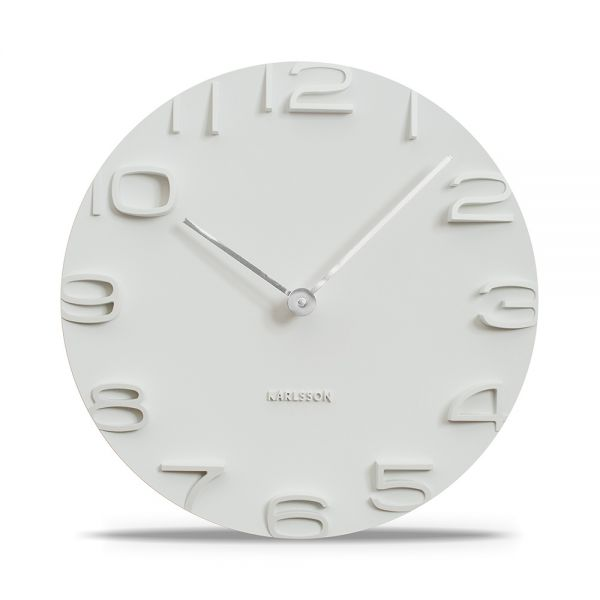 Wanduhr ON THE EDGE weiss