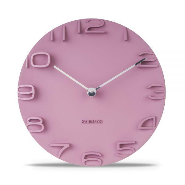 Wanduhr ON THE EDGE pink