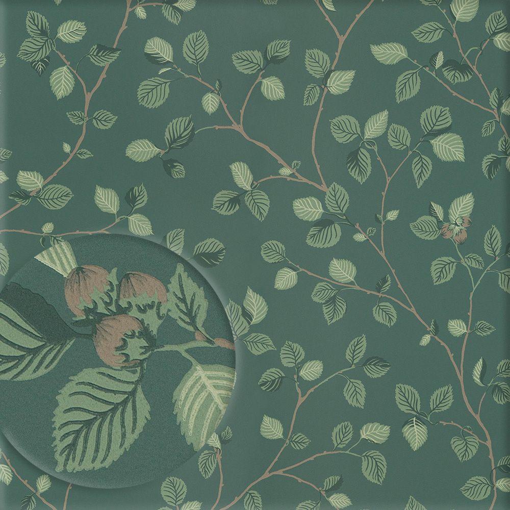 Mustertapete Panama Mit Dschungelmotiv In Zarten Gruntonen 3