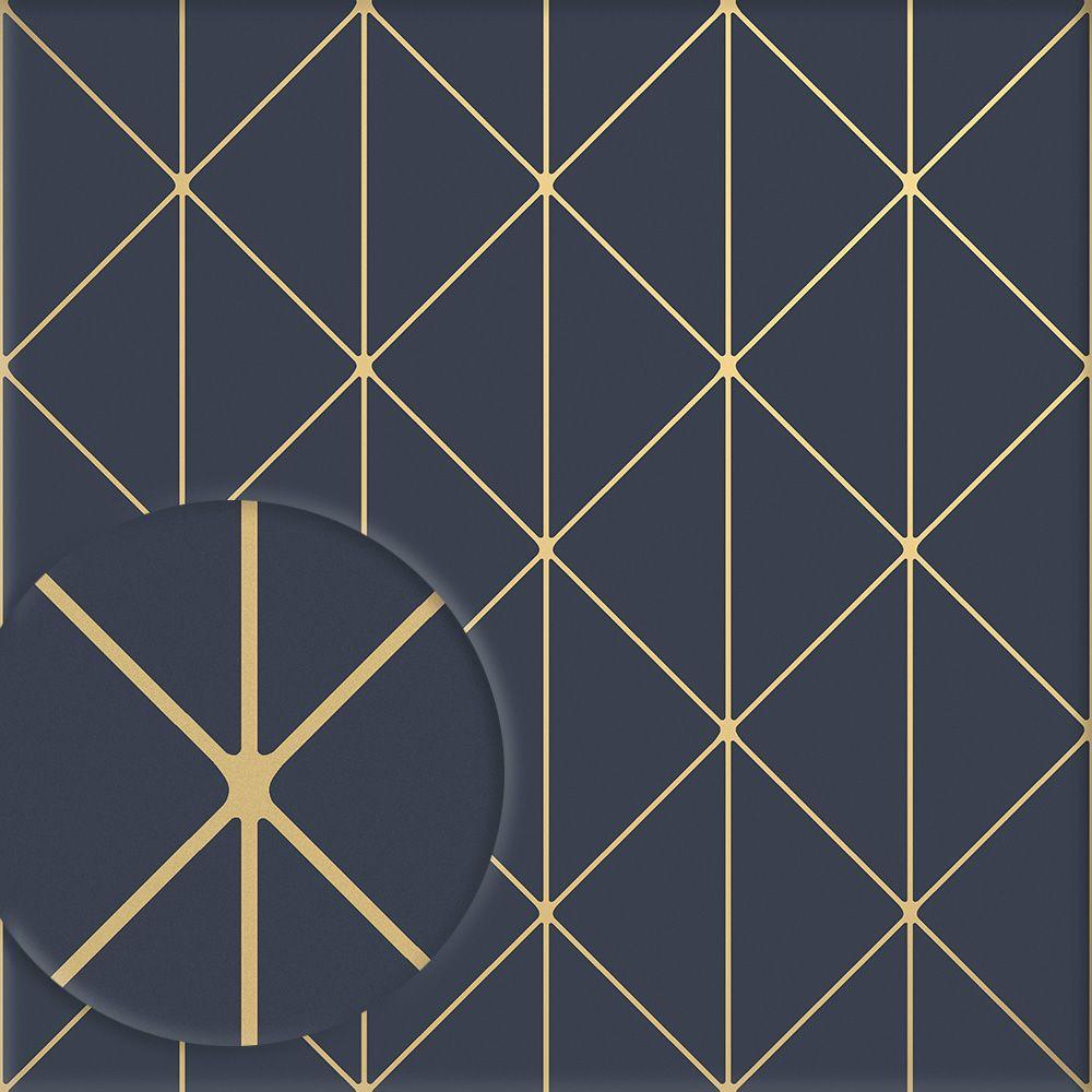 Hochwertige Tapete Mit Metallic Gold Schimmer