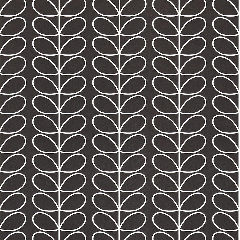 Designtapete Linear Stem Schwarz Weiss Von Orla Kiely
